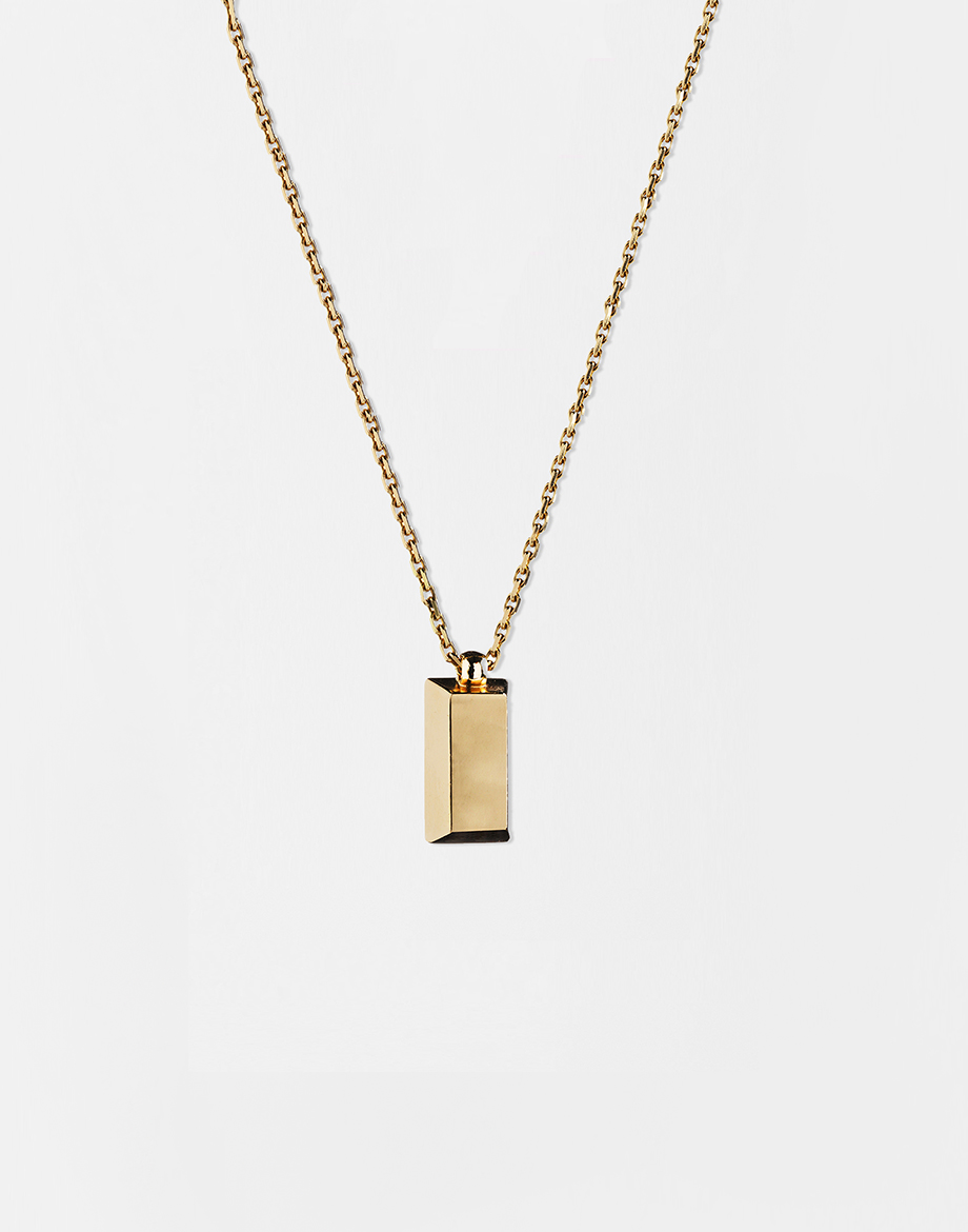 Yellow gold bar pendant necklace shop mmcurate aloadofball Image collections